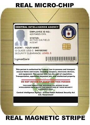CIA-Central Intelligence Agency-   SPY ID COLLECTOR CARD