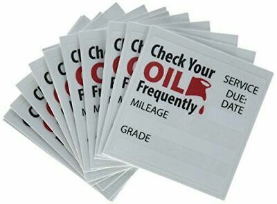 50-2 Free😲Oil Change Reminder Stickers Clear Static Cling Decals🔥 WOW 😍L👀K