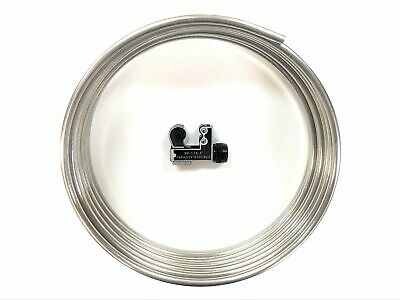 16 ft- Roll of Stainless steel 38 Fuel line tubing  w Tube cutter