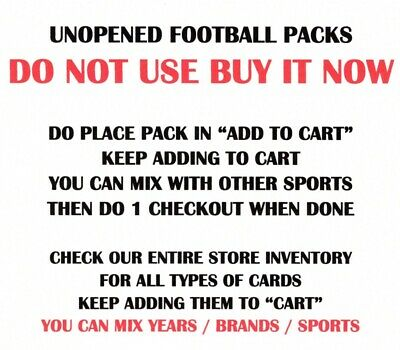 OLDER UNOPENED FOOTBALL PACKS - SELECT FROM LIST