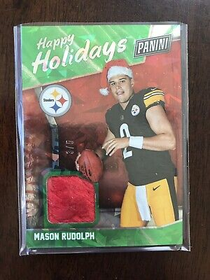 MASON RUDOLPH 2018 PANINI BLACK FRIDAY SP ROOKIE RC SANTA HAT 35