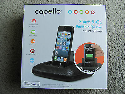 Brand New Capello Ci100 Share - Go Portable Speaker with Lightning Connector