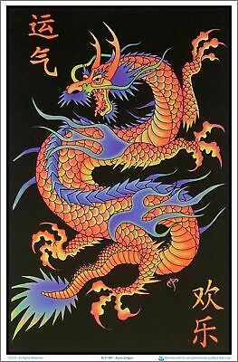 Asian Dragon Blacklight Poster 23 x 35
