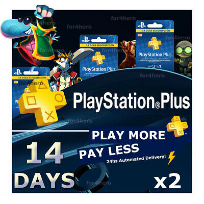 PSN PLUS 1 Month2x14 DAY TRIAL - PS4 - PS3 - PS Vita - PLAYSTATION INSTANT
