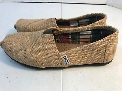 Womens Toms Flats Shoes Size 7-5 Tan