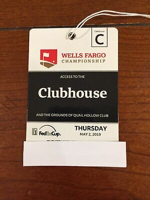 2 WELLS FARGO CHAMPIONSHIP CLUBHOUSE TICKETS THURS 52