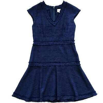 NWOT Charlotte Brody Dress Womens 4 Navy Blue A-Line Fit - Flare Sleeveless New