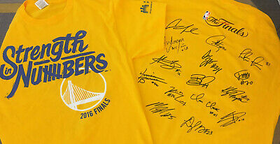 Golden State Warriors 2016 Playoff T-Shirt NBA Finals Strength in Numbers XL