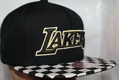 Los Angeles Lakers Mitchell - Ness NBA Checked Out SnapbackHatCap         NEW