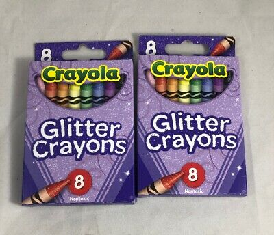 Crayola Glitter Crayon Collection 2 Pack 16 Total
