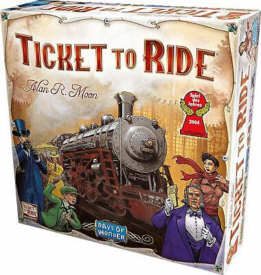 Days of Wonder Ticket To Ride by Alan R- Moon Train Adventure Board Game