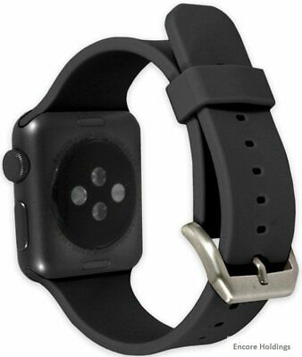 End Scene CO9212 1-5-inch Silicone Band for Apple Watch - Black