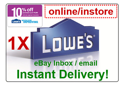 LOWES 10 OFF Promo-1Coupon Code OnlineInstore sent within 30s