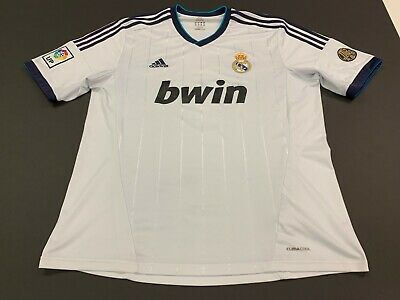 Real Madrid Adidas Men's 2012 White Soccer Jersey - XL
