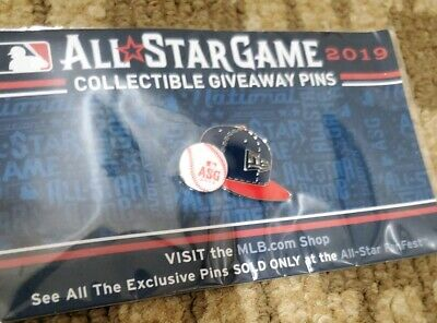 2019 MLB All-Star Game Collectible Pin Giveaway - FanFest Baseball Cap ASG