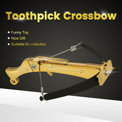 STEEL Toothpick Crossbow Working Desk Ornament Toy FAST Delivery -3 Color