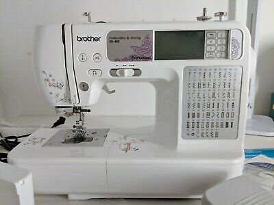 Brother SE400 Combination Computerized Sewing and 4x4 Embroidery Machine - White