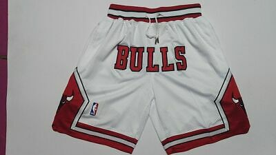 Mens Chicago Bulls NBA Basketball Shorts Pants NWT Stitched white