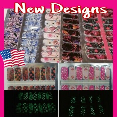 Color Nail Polish Strips BUY 4 GET 2 FREE Valentine Gift Manicure Nail Stickers
