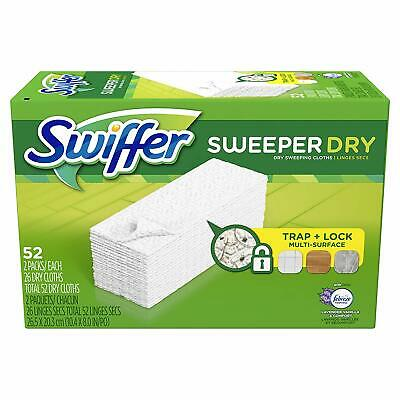 Swiffer Sweeper Dry Mop Pad Refills for Floor Mopping and Cleaning 52 Count