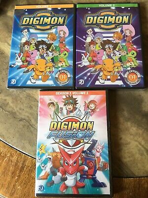 Digimon Digital Monsters Season 1 Volume 1 - 2 Digimon Fusion DVDs