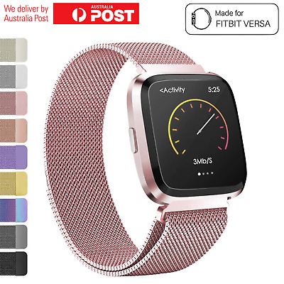 Fitbit Versa Watch Band Stainless Steel Milanese Loop Replacement Wrist Strap