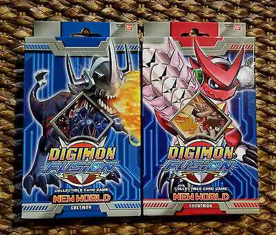 Digimon Fusion CCG New World Greymon - Shoutmon Starter Decks