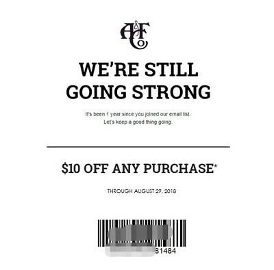 AF A-F Abercrombie - Fitch 10 OFF Discount Promo Code SALE - CLEARANCE