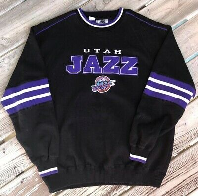 Vintage 90s Utah Jazz NBA Basketball Crewneck Sweatshirt Lee Sport