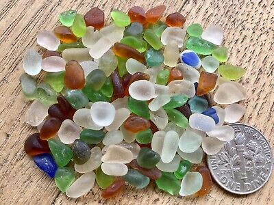 120 pcs  Genuine Surf Tumbled Sea beach Glass Micro and chips
