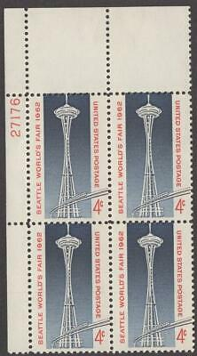 Scott  1196 - US Plate Block Of 4 - Seattle Worlds Fair - MNH - 1964