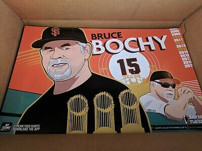 SF Giants 2019 Bruce Bochy Authentic Fan Tuesday Cheer Card Poster 924 Boch