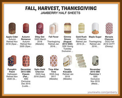 jamberry half sheets fall 🍁 harvest 🦃 thanksgiving buy 3 - 1 FREE NEW 1017