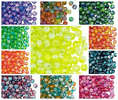 CHOOSE COLOR 50pcs Cracked Pressed Beads 6 mm Czech Glass