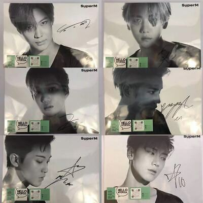 【SuperM】SUPER M MEMBER SIGNED POSTER IN TUBE WILL OPEN 115 WATCH TO SAVE