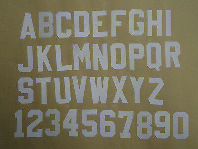 3 Three Inch White Tackle Twill Letters and Numbers