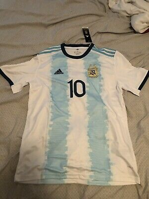 Lionel Messi Home Jersey 2018 World Cup Argentina 10 Soccer Mens - Size Large