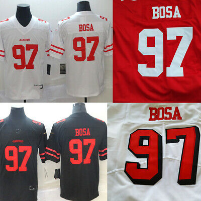 Mens San Francisco 49ers 97 Nick Bosa BlackRedWhite Jersey size M-3XL