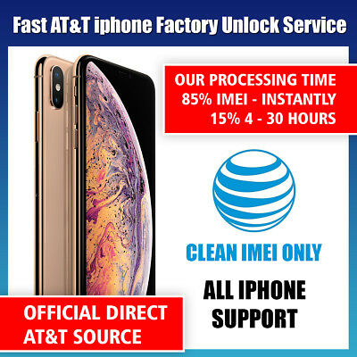 FACTORY UNLOCK SERVICE AT-T CODE ATT for IPhone 5 5S 6 6s  7 8 X XS 11 SE 12