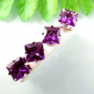 P51600 Square Purple Stud Earring 88mm