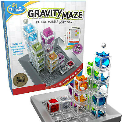 ThinkFun Gravity Maze Marble Run Logic Game and STEM Toy for Boys and Girls Age
