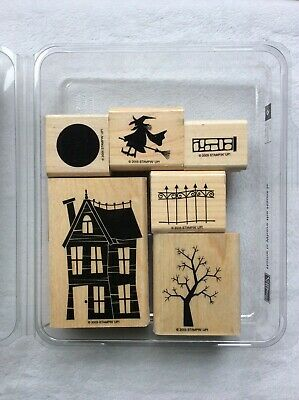 Stampin Up Home is Where the Haunt Iswood mount stamp set