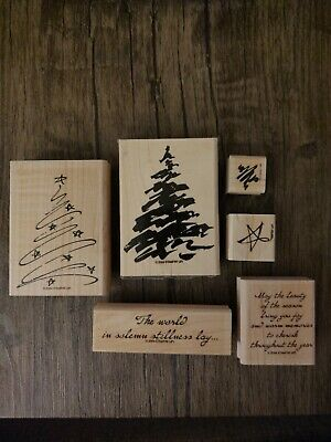 Stampin Up CHRISTMAS TREES with holiday messages 2004