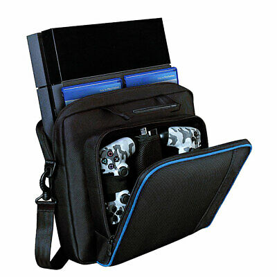 For Sony PlayStation4 PS 4 Black Travel Carry Case Carrying Bag Multifunctional