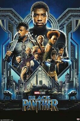 Black Panther Group One Sheet Wall Poster 22-375x34 Trends Brand NEW