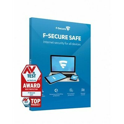 F-SECURE SAFE INTERNET SECURITY 2021 - FOR 3 PC MULTI DEVICE - 1 YEAR - Download