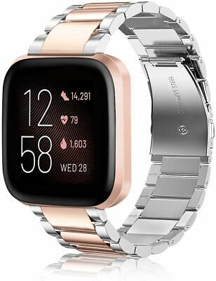 For Fitbit Versa 2 Bracelet Band Stainless Steel Metal Wrist Strap Replacement