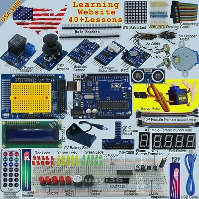 EPAL Ultimate Starter Kit Compatible with Arduino UNO R3 Processing USA