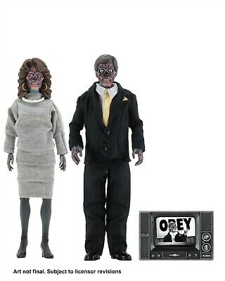 They Live - 8 Clothed Action Figures - Alien 2 Pack - NECA