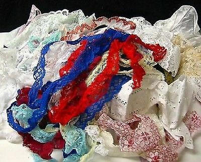Asst Lace Remnant Pieces 12 x 10 Grab Bag Craft Dolls Clothing Costumes GREAT